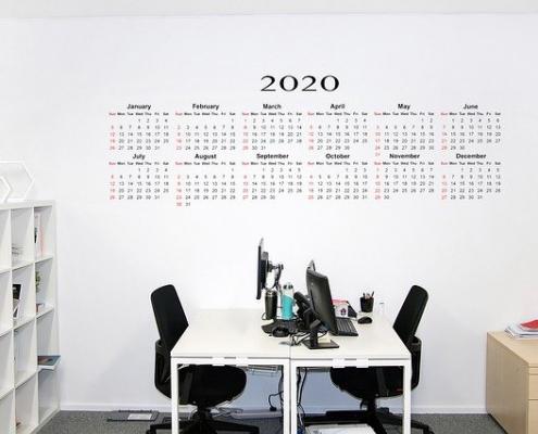 calendário de horário de trabalho